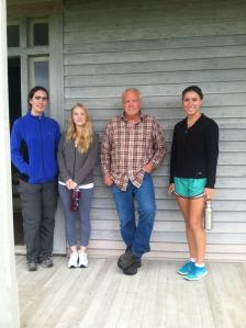 Three of the Interns and Craig at the Ferry House