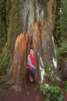 Kate in Olympic National Park